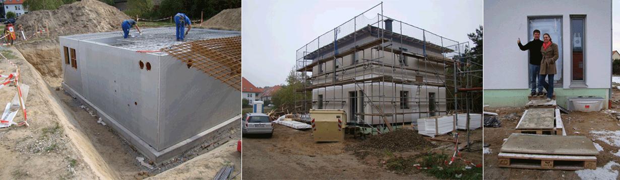 Einfamilienhaus mit Kellergeschoss in Fertigteilbauweise, Beratung und Begleitung bis zur Abnahme