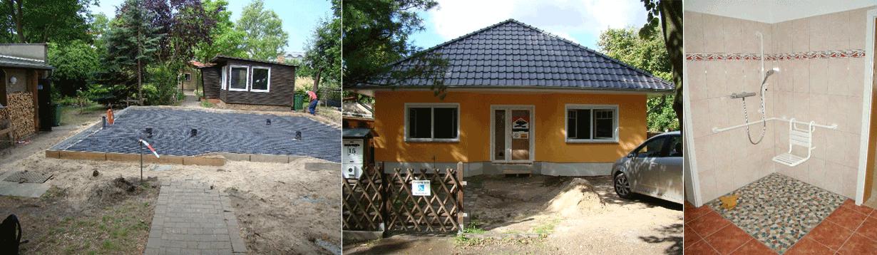 behindertengerechtes Einfamilienhaus in Fertigteilbauweise, Beratung und Begleitung bis zur Abnahme