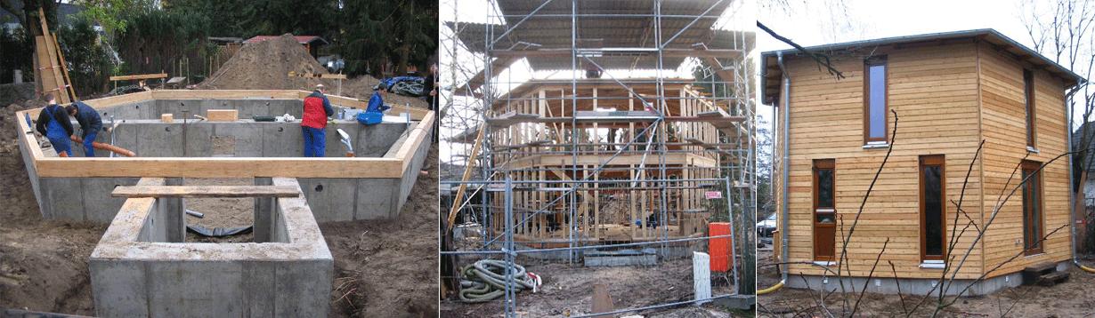 Einfamilienwohnhaus, Neubau, Holzhaus mit Sechseckgrundriss